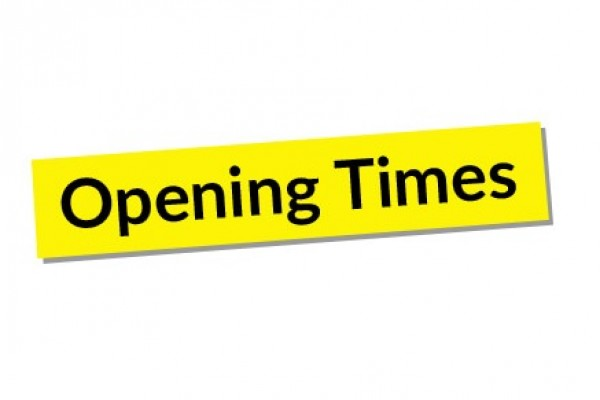 OPENING TIMES BANNER